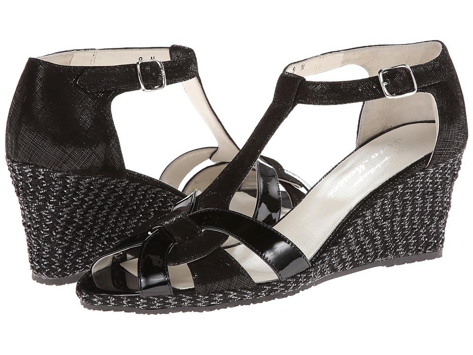 Sesto Meucci - 333 (Black Cartizze/Black Mag Patent) Women's Wedge Shoes