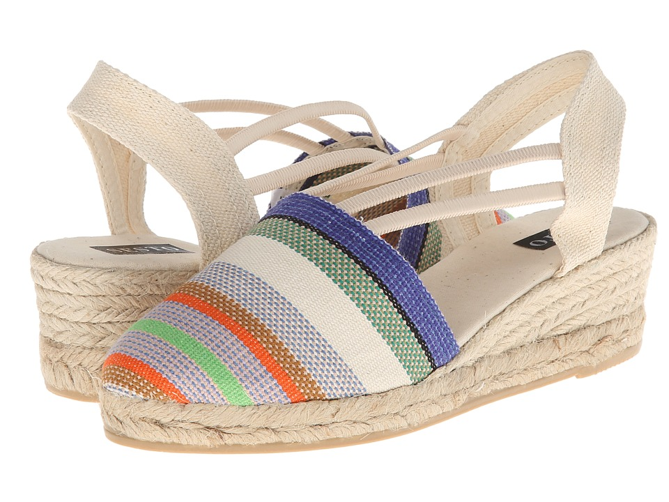 Sesto Meucci - 835 (Beige Rayas Marti) Women's Wedge Shoes