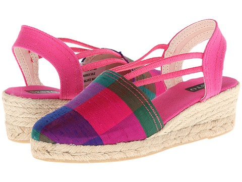 Sesto Meucci - 835 (Fucsia Seda Cuardros (Fuchsia)) Women's Wedge Shoes
