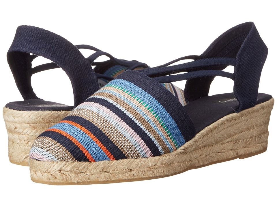 Sesto Meucci - 835 (Navy Rayas Marti (Navy Multi Stripe)) Women's Wedge Shoes