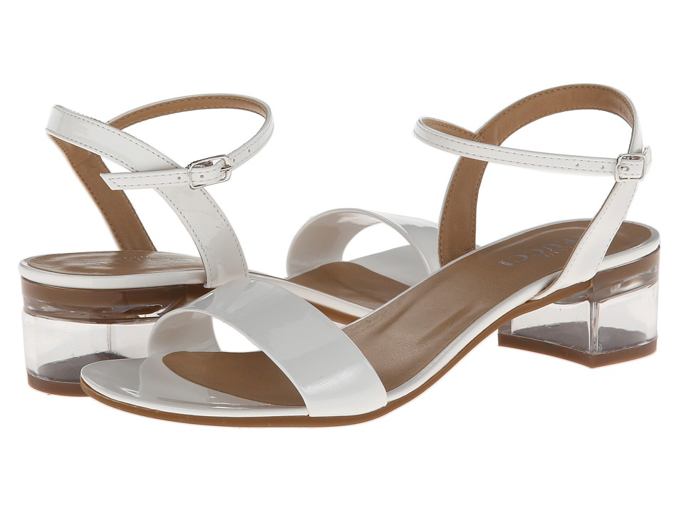 Sesto Meucci - Akela (White Mag Patent/Silver Buckle) Women's Dress Sandals