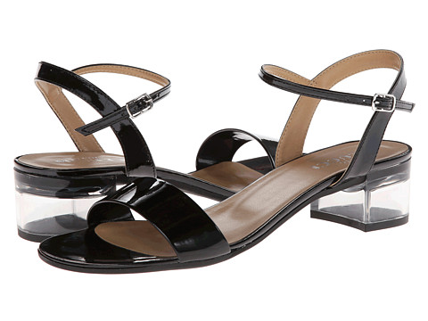 Sesto Meucci - Akela (Black Mag Patent/Silver Buckle) Women's Dress Sandals