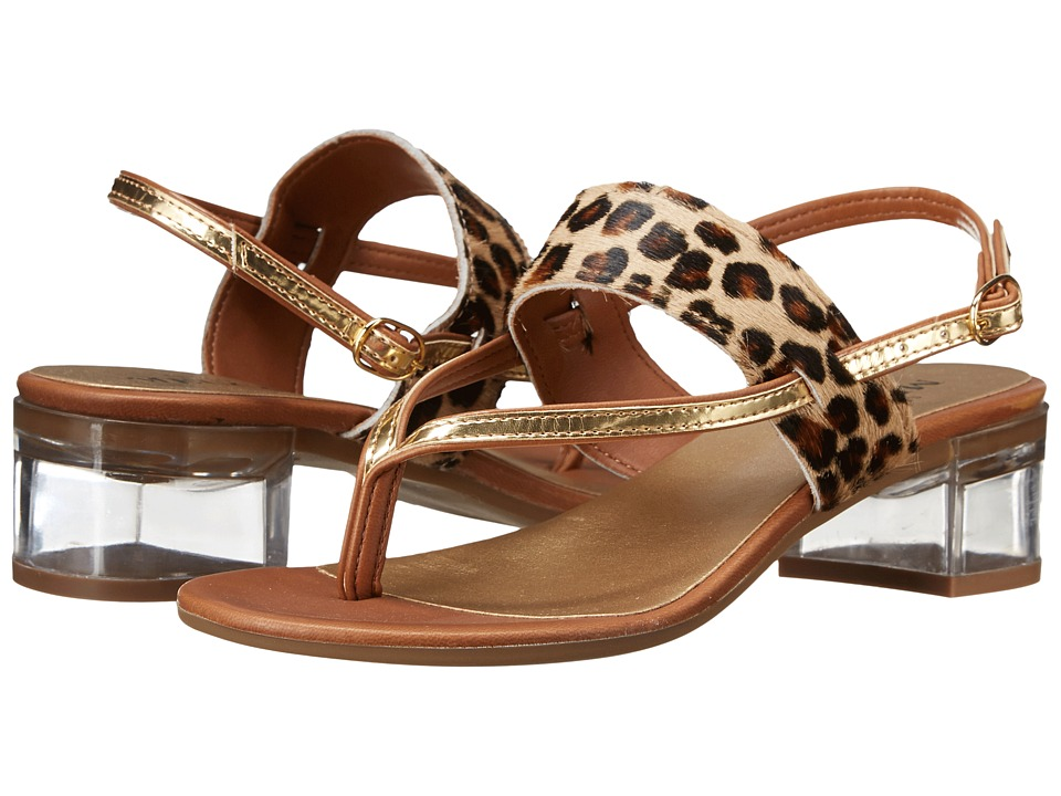 Sesto Meucci - Aladin (Co1 Camel Leo Hairy Calf/Cuoio/Gold Super Metallic) Women's Dress Sandals