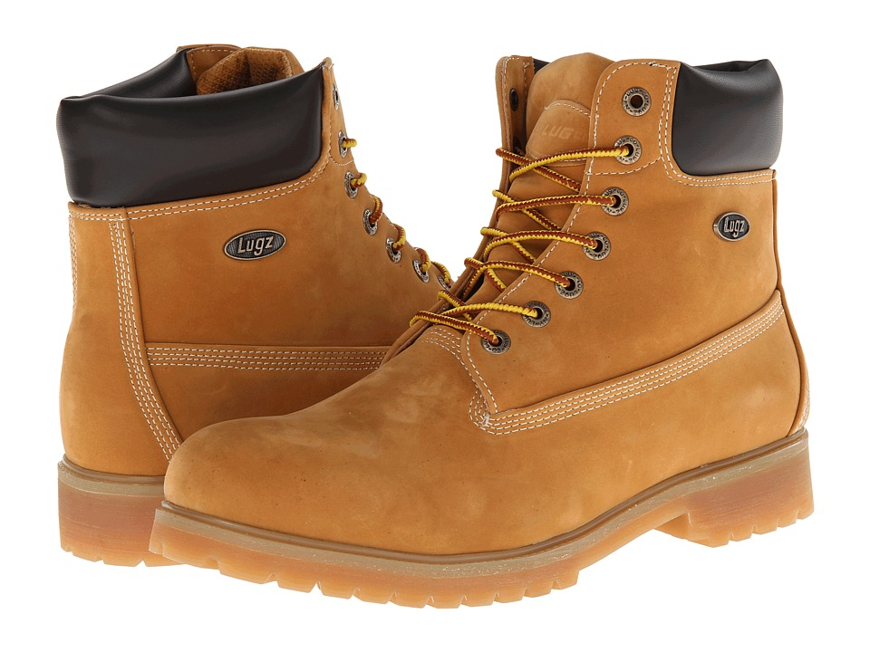 Lugz - Convoy (Golden Wheat/Bark/Tan/Gum Thermalbuck) Men's Lace-up Boots
