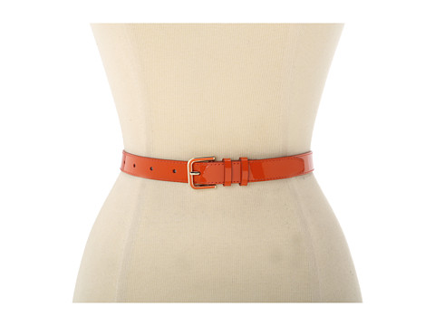 Cole Haan - Enamel Hardware Belt (Ch Orange) Women's Belts