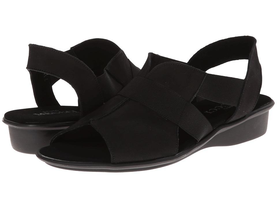 Sesto Meucci - Ella (Black Nubuck/Black Elastic) Women's Sandals