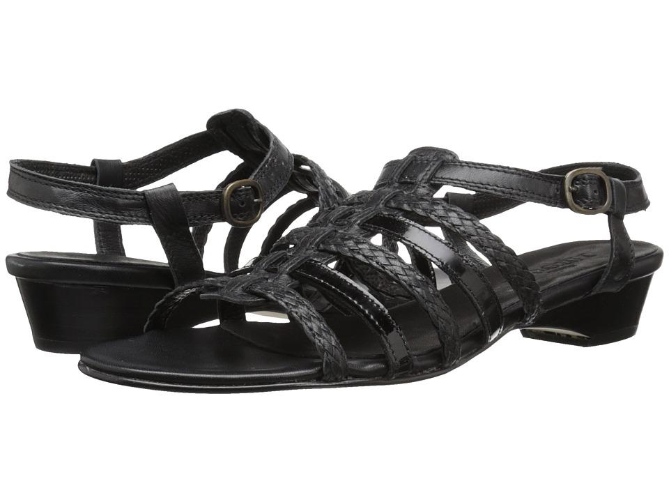 Sesto Meucci - Georgie (Black Nappa/Black Patent) Women's Sandals