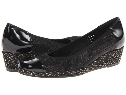 Sesto Meucci - Mildee (Black Betty/Black Mag Patent/Black/Gold Rope) Women's Wedge Shoes