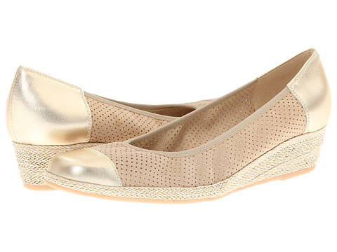 Sesto Meucci - Mildee (Bone Betty/Yute Met Nappa/Beige/Gold Rope) Women's Wedge Shoes
