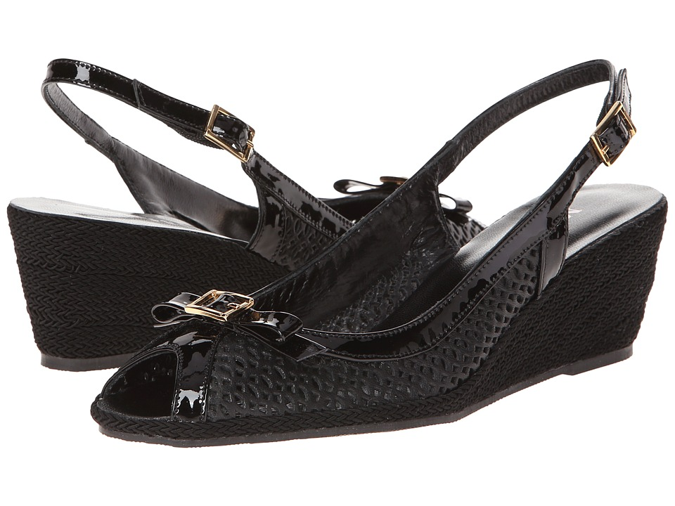 Sesto Meucci - Milene (Black Nappa Leather) Women's Sling Back Shoes