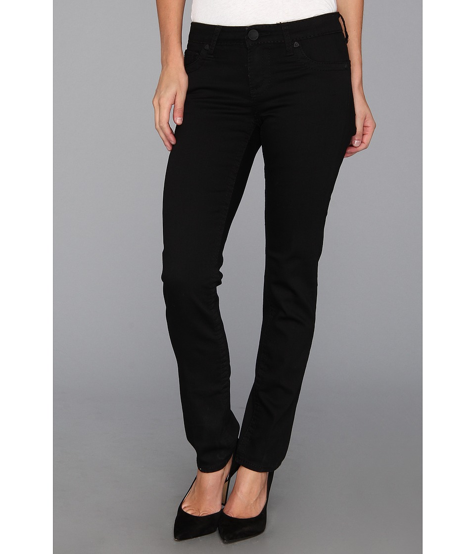 KUT from the Kloth - Stevie Straight Leg in Black (Black) Women's Jeans
