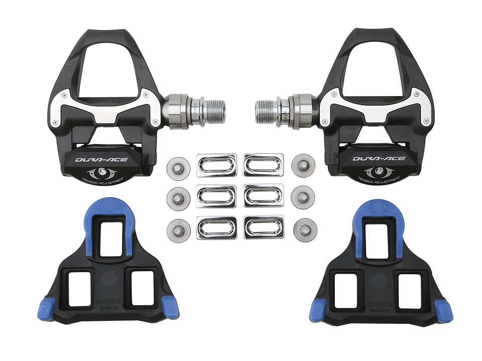 Shimano - Dura-Ace PD-9000 Carbon SPD-SL Pedals Long Axle (Black) Athletic Sports Equipment