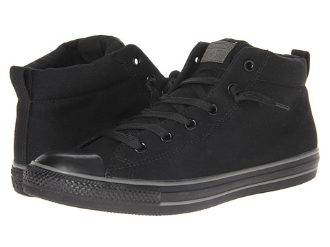 Converse - Chuck Taylor All Star Color Plus Street Mid (Black/Charcoal) Shoes