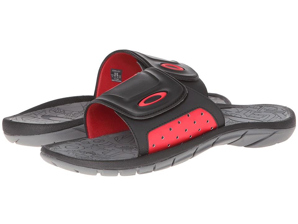 Oakley - Supercoil Slide (Black/Red) Men's Slide Shoes