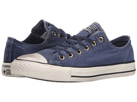 Converse - Chuck Taylor All Star Washed Canvas Ox (Navy) Lace up casual Shoes