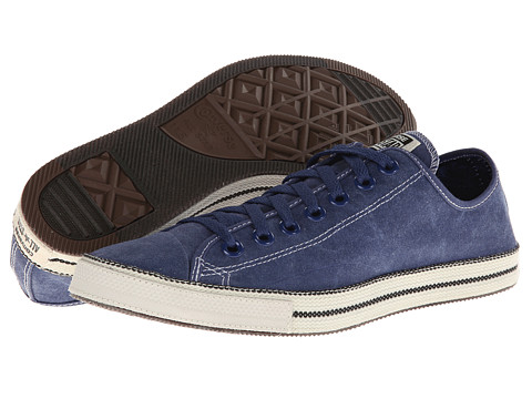 Converse - Chuck Taylor All Star Chuckout Washed Canvas (Ensign Blue) Lace up casual Shoes