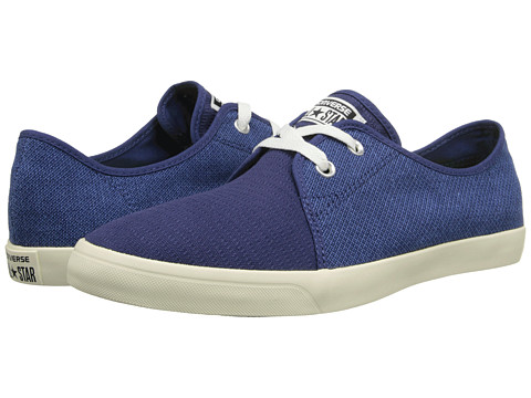 Converse - All Star Riff Woven Ox (Ensign Blue/Smalt Blue) Athletic Shoes