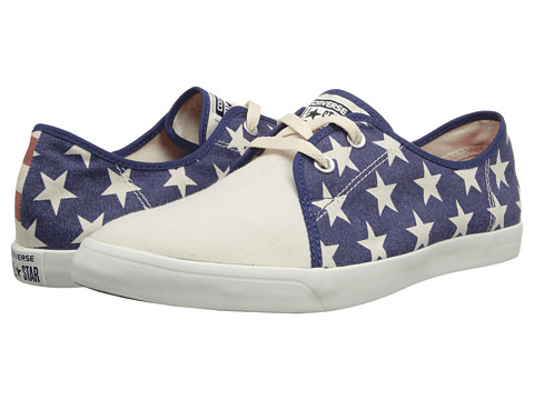 Converse - All Star Riff Canvas Ox (Parchment/Red/Blue) Athletic Shoes