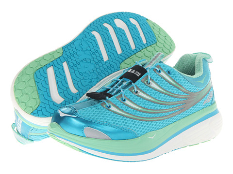 Hoka One One - Kailua Tarmac (Auqa/Green/White) Women's Running Shoes