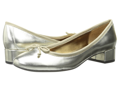 LAUREN by Ralph Lauren - Abrion (Plat/Plat Metallic Kidskin/Grosgrain) Women's 1-2 inch heel Shoes