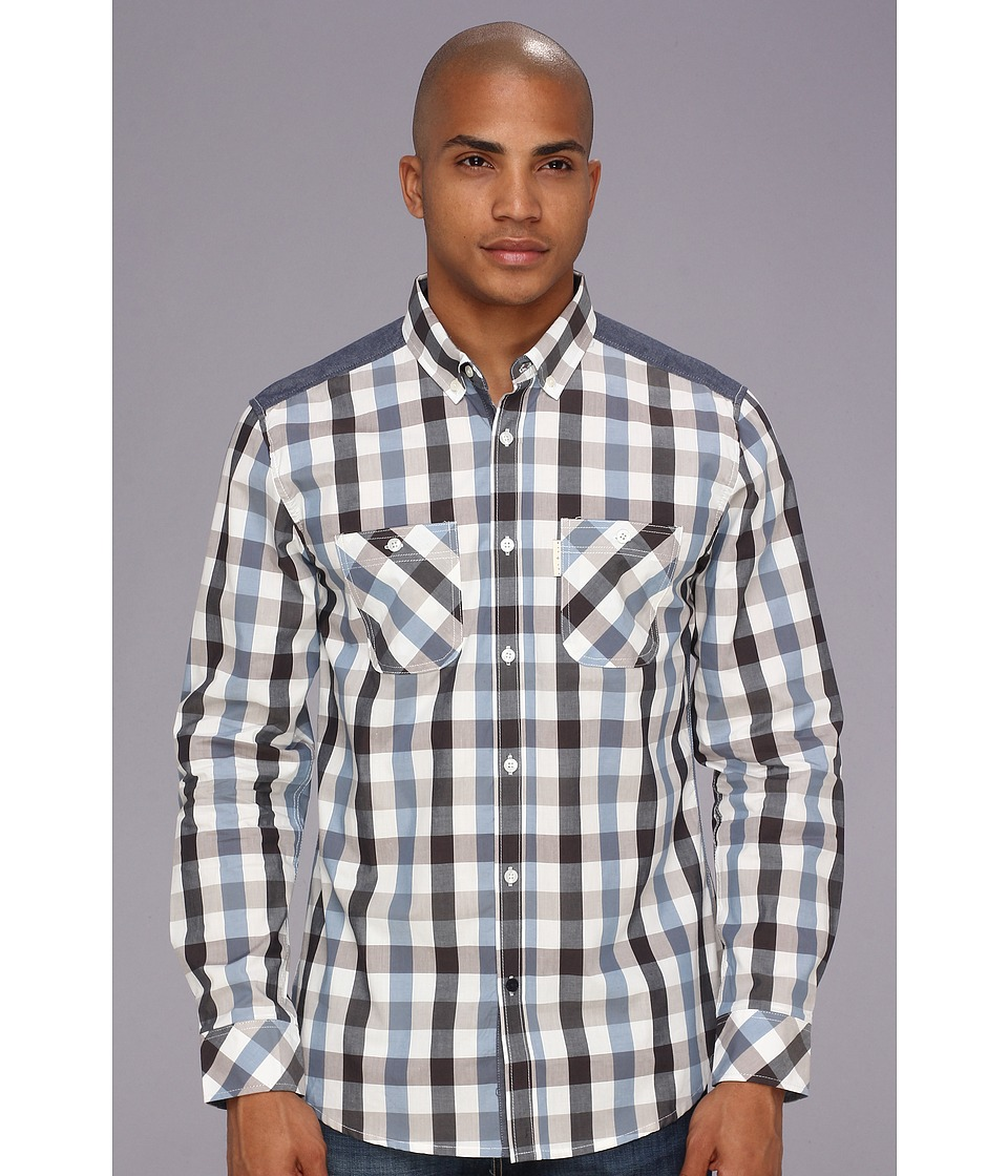 Marc Ecko Cut & Sew - Snowdrop Shirt (Navy) Men's Long Sleeve Button Up