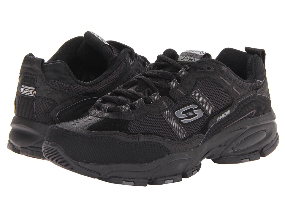 SKECHERS - Vigor 2.0 (Black) Men's Lace up casual Shoes