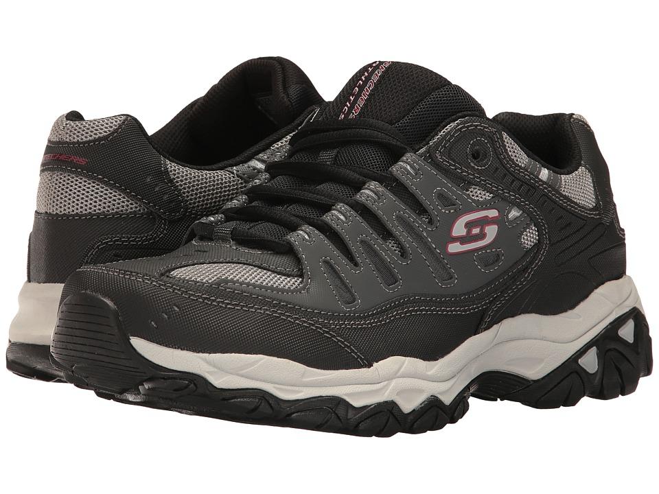 SKECHERS - Afterburn M. Fit (Char/Black) Men's Lace up casual Shoes