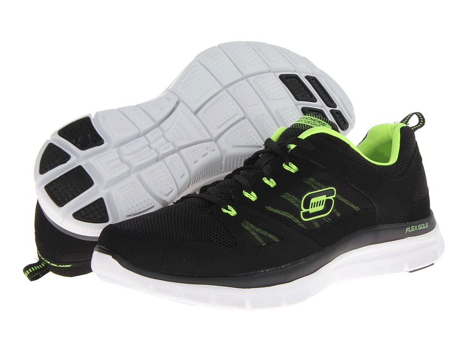 SKECHERS - Flex Advantage Tune In (Black/Lime) Men