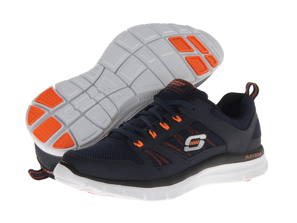 SKECHERS Flex Advantage Tune In (Navy/Orange) Men