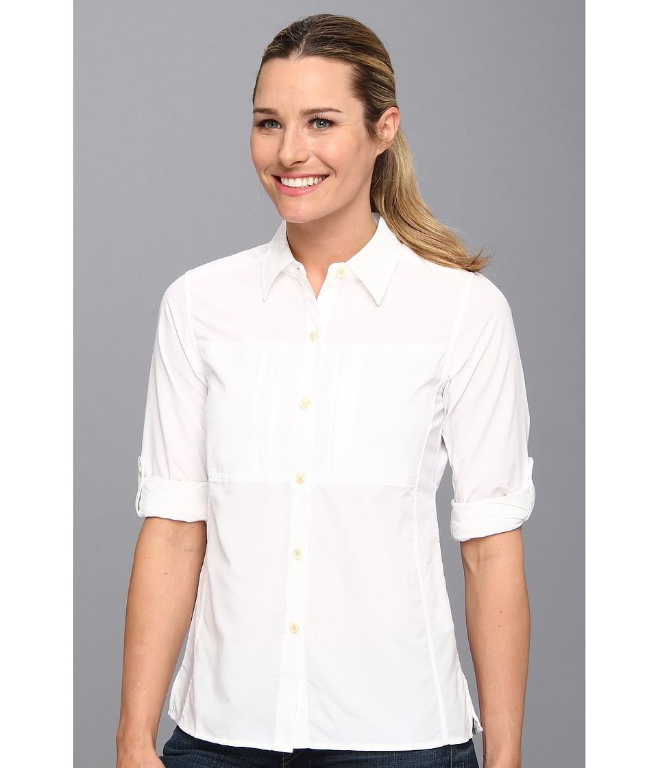 ExOfficio - Dryflylite Long Sleeve Shirt (White) Women's Long Sleeve Button Up