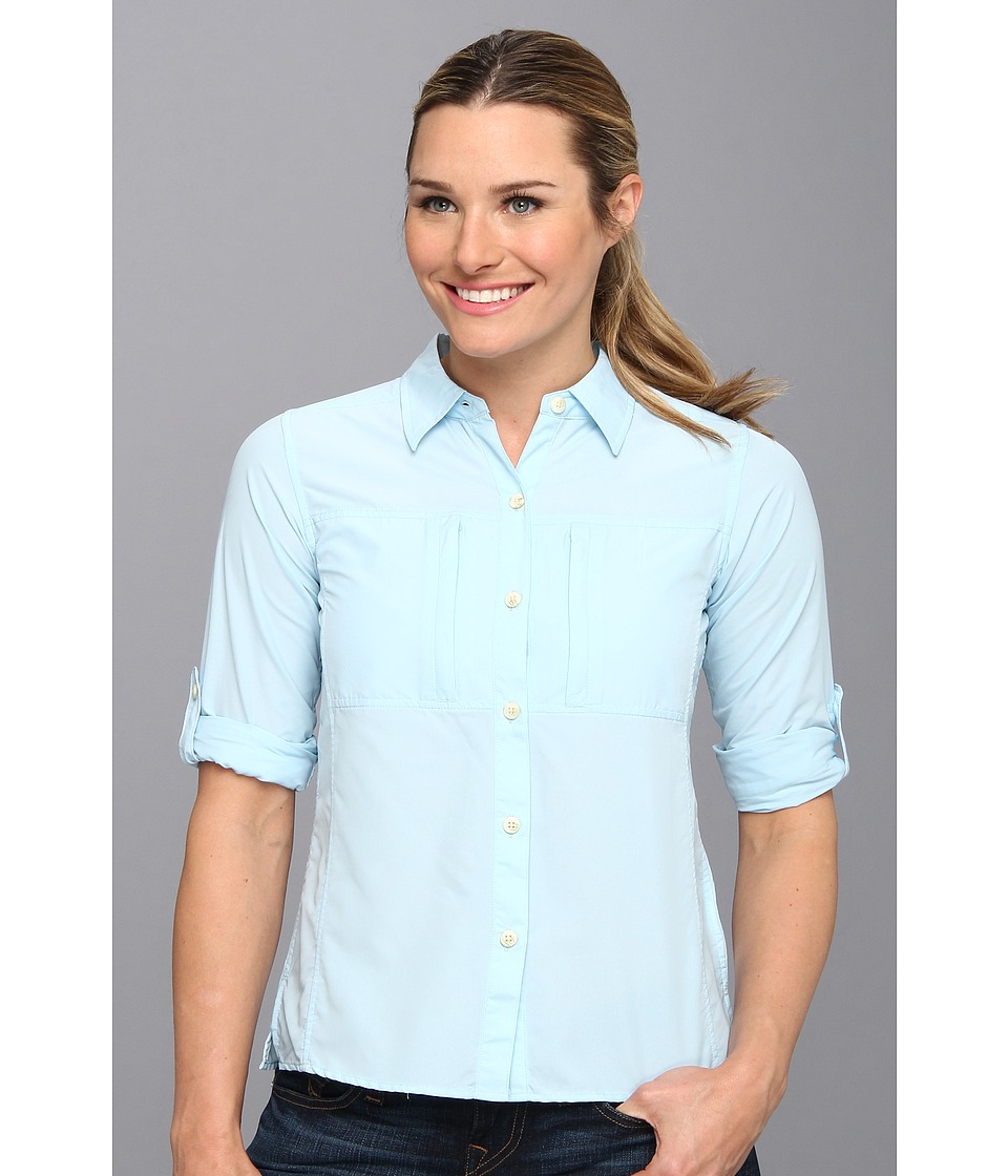 ExOfficio - Dryflylite Long Sleeve Shirt (Atmosphere) Women's Long Sleeve Button Up