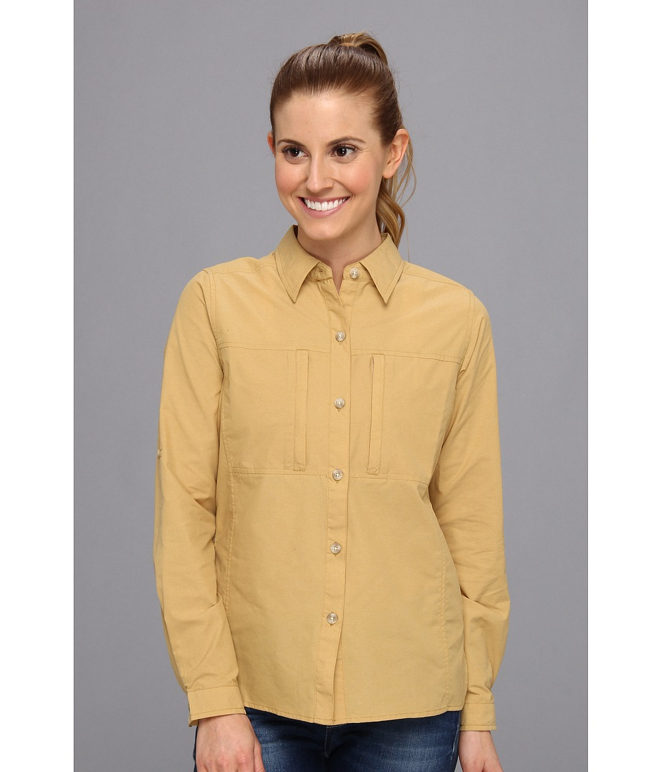 ExOfficio - Dryflylite Long Sleeve Shirt (Chai) Women