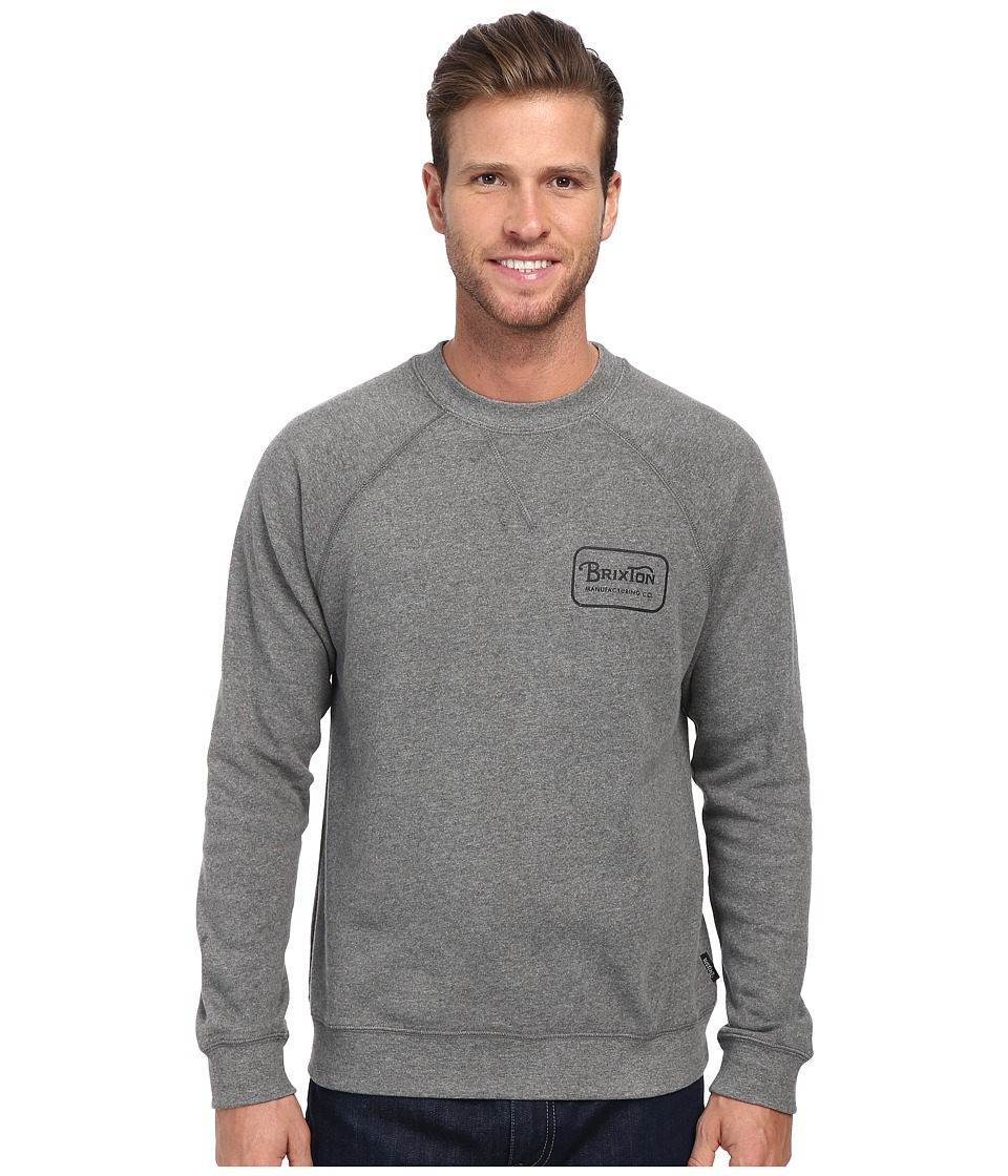 Brixton - Grade Crew Fleece (Heather Grey) Men's Sweatshirt