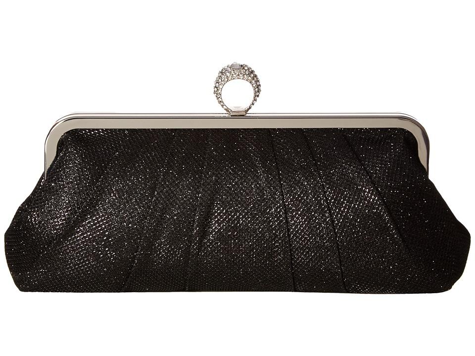 Jessica McClintock - Ring Form Clutch (Black) Clutch Handbags