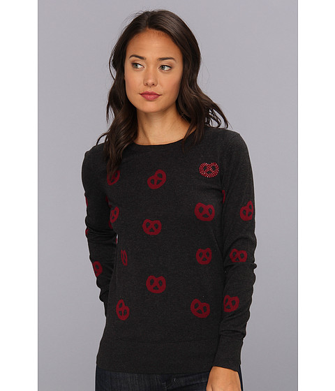French Connection - All Over Pretzel Knits 78AEQ (Charcoal) Women's Sweater