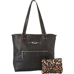 SALE! $44.99 - Save $34 on TYLER RODAN Gemini Reversible Tote (Cheetah Black) Bags and Luggage - 43.05% OFF $79.00