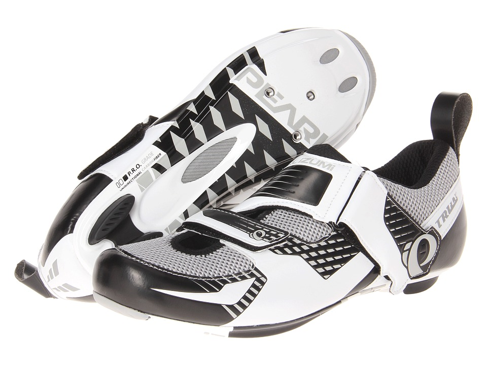 Pearl Izumi - Tri Fly IV Carbon (White/Silver) Men's Cycling Shoes
