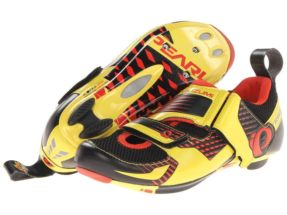 Pearl Izumi - Tri Fly IV Carbon (Black/Fiery Red) Men's Cycling Shoes