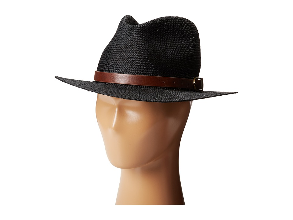 Brixton - Leighton Fedora (Black/Brown) Traditional Hats