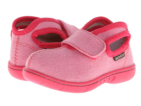 Bogs Kids - Baby Bogs Mid Canvas (Toddler) (Soft Pink) Girls Shoes