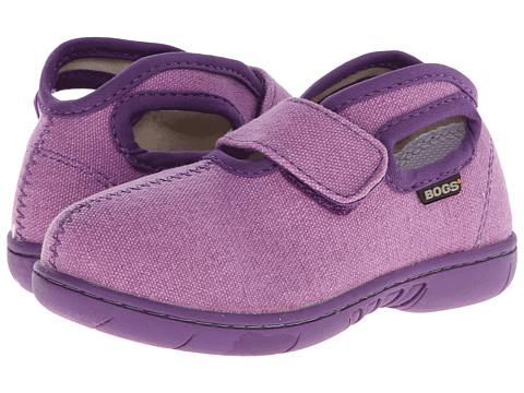 Bogs Kids - Baby Bogs Mid Canvas (Toddler) (Violet) Girls Shoes