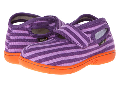Bogs Kids - Baby Bogs Mid Canvas (Toddler) (Violet Multi) Girls Shoes