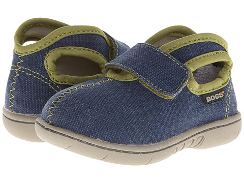 Bogs Kids - Baby Bogs Mid Canvas (Toddler) (Navy) Boys Shoes