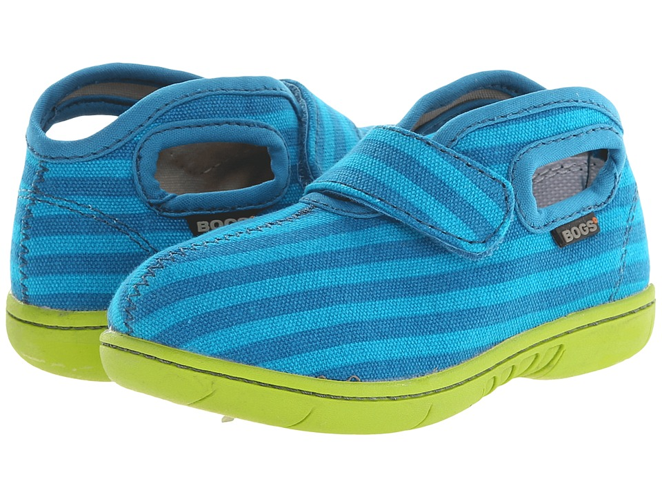 Bogs Kids - Baby Bogs Mid Canvas (Toddler) (Turquoise Multi) Boys Shoes