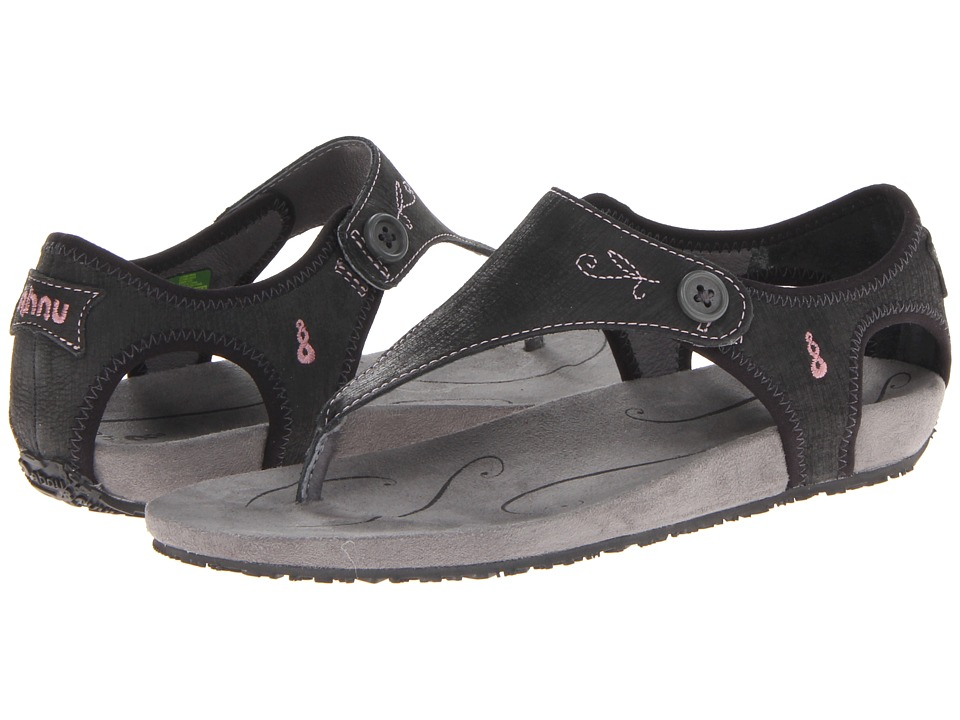 Ahnu - Serena (Black) Women's Toe Open Shoes
