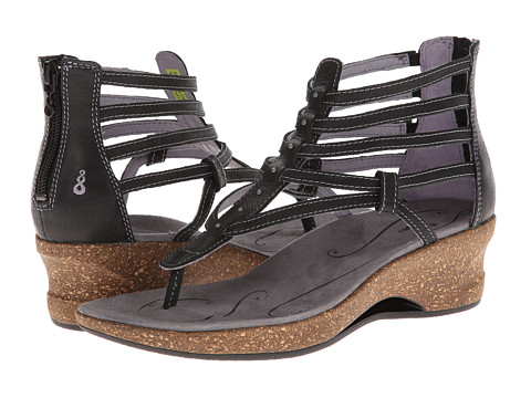 Ahnu - Merida (Black) Women's Wedge Shoes