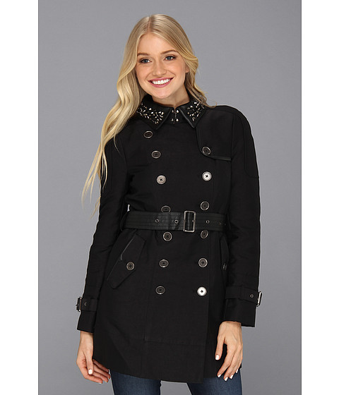 Sam Edelman - Kendrix Studded Collar Trench (Black) Women