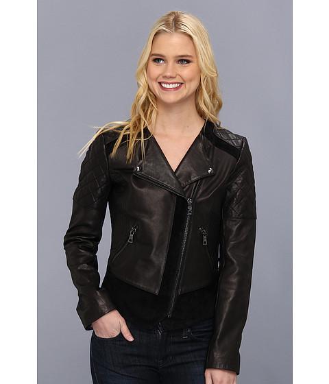 Sam Edelman - Leather/Suede Combo Jacket (Black) Women