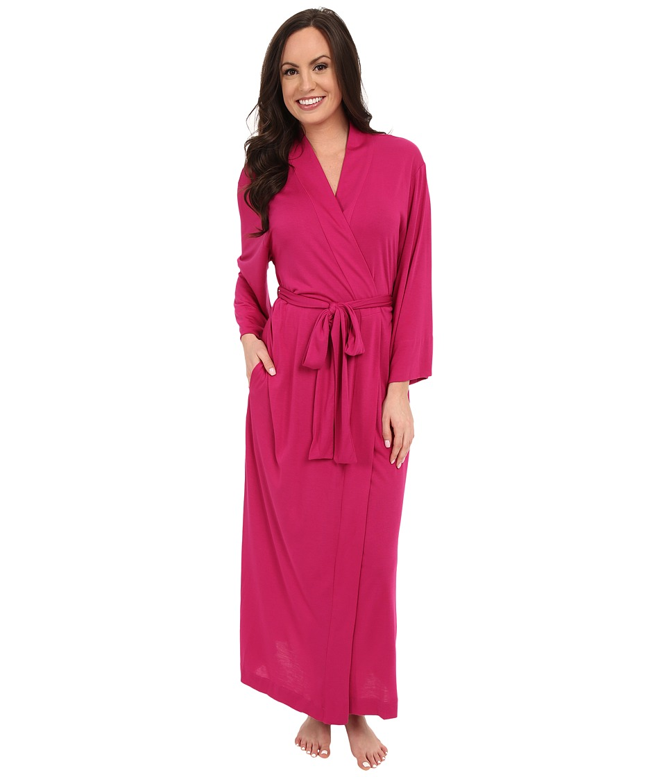 Natori - Shangri-La Robe (Royal Fuchsia) Women's Robe plus size,  plus size fashion plus size appare