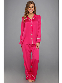SALE! $59.99 - Save $70 on Natori Solid Charmeuse Notch PJ (Sassy Pink) Apparel - 53.85% OFF $130.00